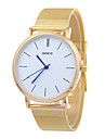 Bărbați Ceas de Mână Quartz Ceas Casual Oțel inoxidabil Bandă minimalist Argint Auriu