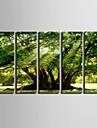 Peisaj Stil European, Cinci Panouri pânză Vertical Imprimeu Decor de perete Pagina de decorare