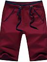 Bărbați Drept Larg Simplu Talie Medie Pantaloni Chinos Pantaloni Mată