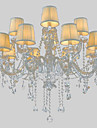 LWD Lumânare stil Candelabre Lumini Ambientale - Cristal, 110-120V / 220-240V Becul nu este inclus / 30-40㎡ / E12 / E14