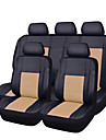 CARPASS Car Seat Covers Seat Covers Beige / Gray / bright blue PU Leather Business For universal