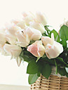 10 Gren PU Roser Bordsblomma Konstgjorda blommor