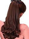 Mikroring Haar-Verlängerung Wellen Synthetische Haare Haarstück Haar-Verlängerung Natürlich Schwarz Dunkelbraun Rotblond Medium Auburn