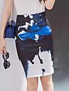 Pentru femei Mărime Plus Size Bodycon Fuste Crăpătură Imprimeu