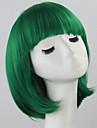 Femme Perruque Synthetique Court Droite Vert Coupe Carre Perruque de Cosplay Perruque Deguisement