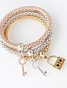 Pentru femei Brățări cu Lanț & Legături - Modă Brățări Argintiu / Auriu / Roz auriu Pentru Nuntă