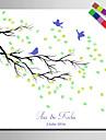 e-home® personalizate printuri pictura panza de amprente -o pasăre pe o ramură (include 12 culori de cerneală)