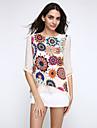 Pentru femei În U - Mărime Plus Size Bluză Imprimeu