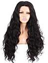 Натуральные волосы Бесклеевая кружевная лента Лента спереди Парик стиль Бразильские волосы Естественные волны Природа Черный Парик 130% 150% 180% Плотность волос 10-26 дюймовый / Природные волосы
