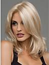 Syntetiskt hår peruker Vågigt Mittbena Värmetåligt Naturlig peruk Mellan Blond