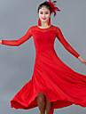 Fuer den Ballsaal Kleider Damen Leistung Tuell / Milchfieber Gerafft Langarm Normal Kleid