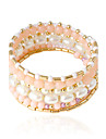 Pentru femei Brățări Bangle - Imitație de Perle Brățări Bijuterii Alb / Roz Pentru Nuntă Petrecere Zilnic Casual