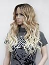 Syntetiska peruker Vågigt Blond Middle Part Syntetiskt hår Värmetåligt / Ombre-hår Blond Peruk Dam Lång Utan lock