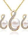 Dame Seturi de bijuterii de mireasă Modă Nuntă Petrecere Σκουλαρίκια Coliere