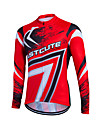 Fastcute Men's Women's Long Sleeve Cycling Jersey Plus Size Bike Sweatshirt Jersey Top Breathable Quick Dry Reflective Strips Sports Coolmax® 100% Polyester Mountain Bike MTB Road Bike Cycling