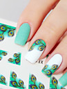 1 pcs Classique Bijoux a ongles / Autocollants 3D pour ongles Nail Art Design Quotidien / PVC