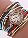 Pentru femei Ceas La Modă Ceas de Mână Ceas Brățară Quartz Plin de Culoare Ștras imitație de diamant PU Bandă Vintage Sclipici Boem Casual
