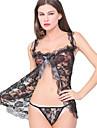Pentru femei Costume Pijamale Nailon Spandex-Sexy Dantelă Jacquard