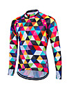Fastcute Homme Manches Longues Maillot de Cyclisme Velo Maillot, Garder au chaud, Sechage rapide, Respirable Polyester, Coolmax®, Toison