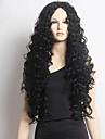 Syntetiska peruker Lockigt Afro-amerikansk peruk Svart Dam Spetsfront Naturlig peruk Lång Syntetiskt hår