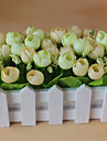 Set of 1 PCS 1 ramură Poliester Trandafiri Față de masă flori Flori artificiale 2.7