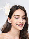 Tulle Feather Fabric Fascinators Headpiece Classical Feminine Style
