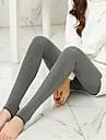Pentru femei Căptușit cu Lână Legging - Mată Talie medie