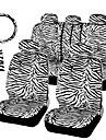 autoyouth scurt zebră alb de pluș set universal se potrivesc cele mai multe scaune auto timona huse auto roată capac umăr scaun pad-