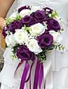 """Flori de Nuntă Rotund Trandafiri Buchete Nuntă Petrecere / Seară Satin 11.02""""(Approx.28cm)"""