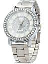 Bărbați Ceas Elegant Ceas La Modă Simulat Diamant Ceas Quartz / imitație de diamant Oțel inoxidabil Bandă Vintage Casual Argint