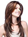 Dam Äkta peruker med hätta Äkta hår Hel-spets Spetsfront 130% 150% Densitet Rakt Peruk Kolsvart Svart Mörkbrun Mellanbrun #6 Kort Mellan
