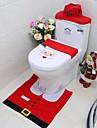 an nou cel mai bun cadou de Crăciun fericit Santa toaletă acopere scaun& covor de baie set decoratiuni de Craciun
