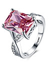 Pentru femei Verighete Inele Afirmatoare Sintetic Ruby Personalizat Iubire Modă Pietre sintetice Plastic Zirconiu Diamante Artificiale