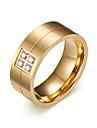 Bărbați Ștras Band Ring - Personalizat / Modă Auriu Inel Pentru Zilnic / Casual