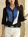 coco Zhang femei de culoare de contrast sifon tricou