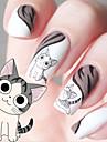 vatten överföring utskrift film kattunge mönster spik klistermärken