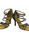 Latin / Salsa-Pantofi de dans(Negru / Albastru / Roșu / Argintiu / Auriu) -Personalizabili-Damă