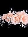 Piete Prețioase & Cristal Tul Material Textil Accesoriu de Păr Clip de păr with Cristal Pene 1 Nuntă Ocazie specială Evenimente/Petrecere