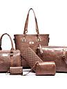Pentru femei Genți PU Seturi de sac Set de pungi pentru 6 buc Negru / Rosu / Albastru