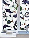 Djur Nutida Fönsterfilm, PVC/Vinyl Material fönster~~POS=TRUNC Matsalsrum Sovrum Kontor Barnrum Vardagsrum Badrum Butik / Cafe Kök