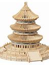 Ahşap Yapbozlar Çin Mimarisi cennet Tapınağı profesyonel Seviye Ahşap 1pcs Çocuklar için Genç Erkek Hediye