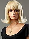 Syntetiska peruker Vågigt Syntetiskt hår Blond Peruk Dam Mellan Naturlig peruk Utan lock