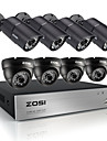 Zosi ® HD 720p 8ch cctv systeme dvr 8pcs 1200tvl ir intemperies outdoor video camera de securite du systeme