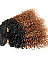 Brasilianskt hår Curly Weave Lockigt Hårförlängning av äkta hår 3 delar 3 delar 0.15