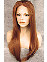 Synthetische Peruecken Glatt Braun Rotbraun Synthetische Haare Braun Peruecke Spitzenfront