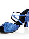 Latin / Jazz / Pantofi Dans / Modern-Pantofi de dans(Albastru / Violet / Roșu / Argintiu / Auriu) -NePersonalizabili-Damă