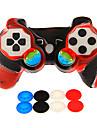 controler cu fir șoc dublu cu capac din silicon piele&Capace 2 buc mushrooom pentru PS3