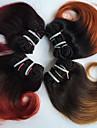Brasilianskt hår Vågigt Hårförlängning av äkta hår 4 delar Nyans