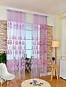 Stångficka En panel Fönster Behandling Europeisk , Tryck Blomma Vardagsrum Polyester Material Skira Gardiner Shades Hem-dekoration
