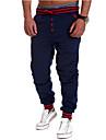 Bărbați Activ Talie Medie, Micro-elastic Drept Activ Pantaloni Chinos Pantaloni Sport Pantaloni Bumbac Poliester Mată Toate Sezoanele